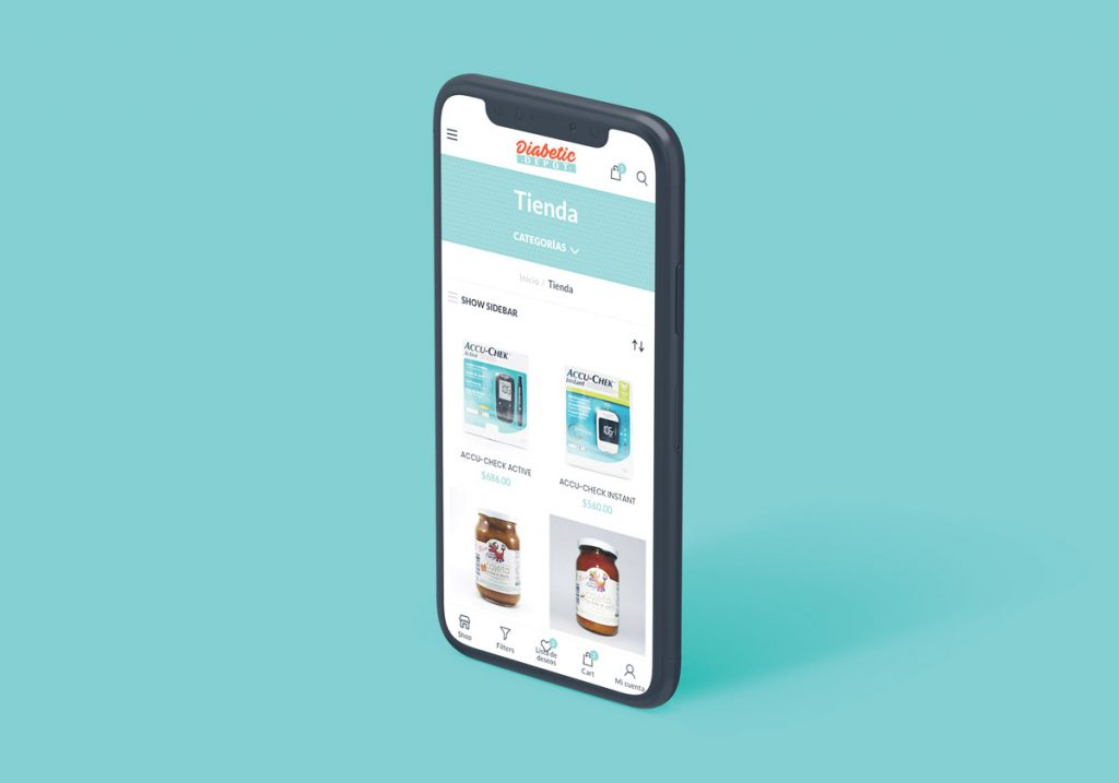 Tienda en línea adaptable