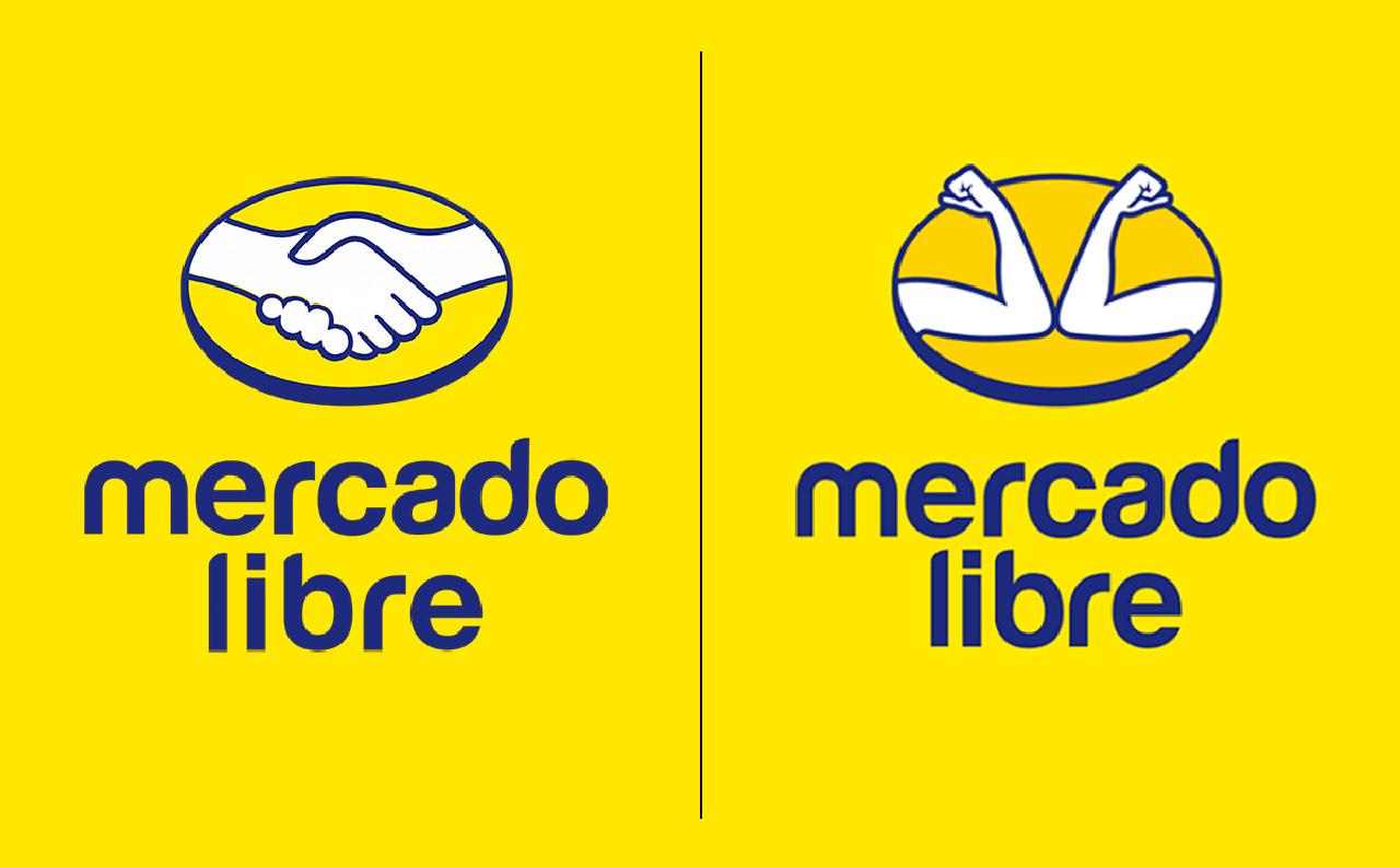 Adaptación de logo de mercado libre durante la pandemia