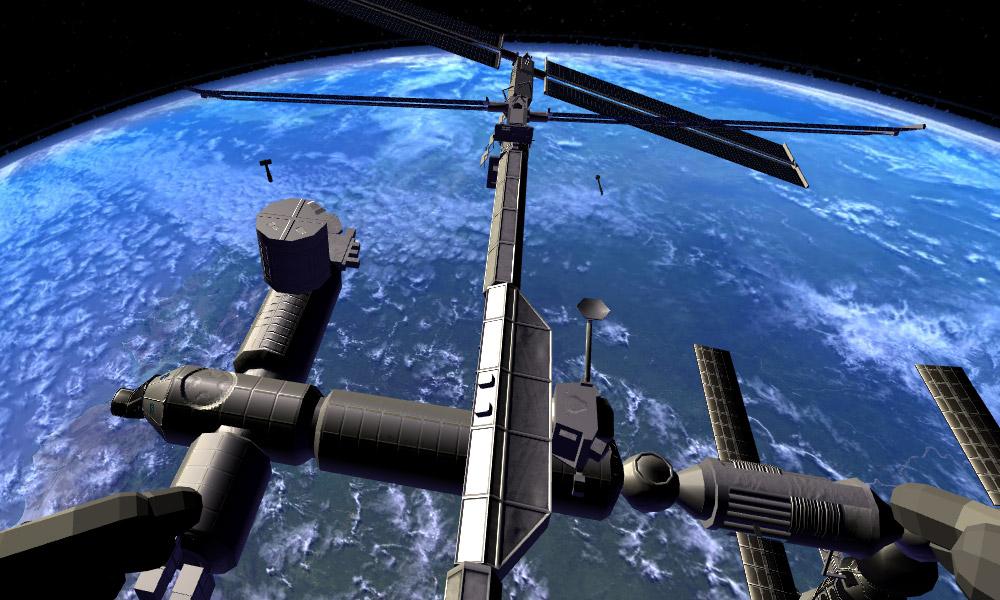 Vista de la estación espacial
